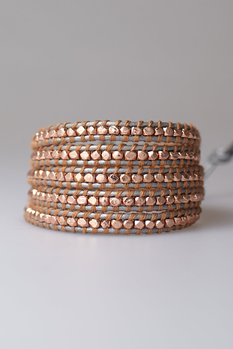 Featured Item: Rose Gold Leather Cord Bracelet