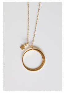 Crescent Star and Moon Necklace