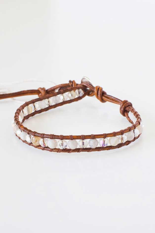 African Opal and Crystal Bracelet | Talulah Lee