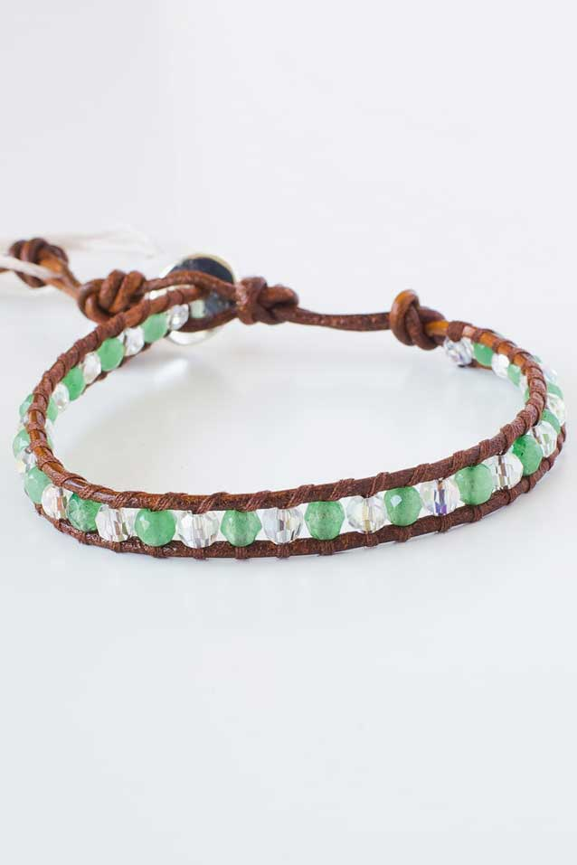 Peridot and Leather Bracelet | Talulah Lee