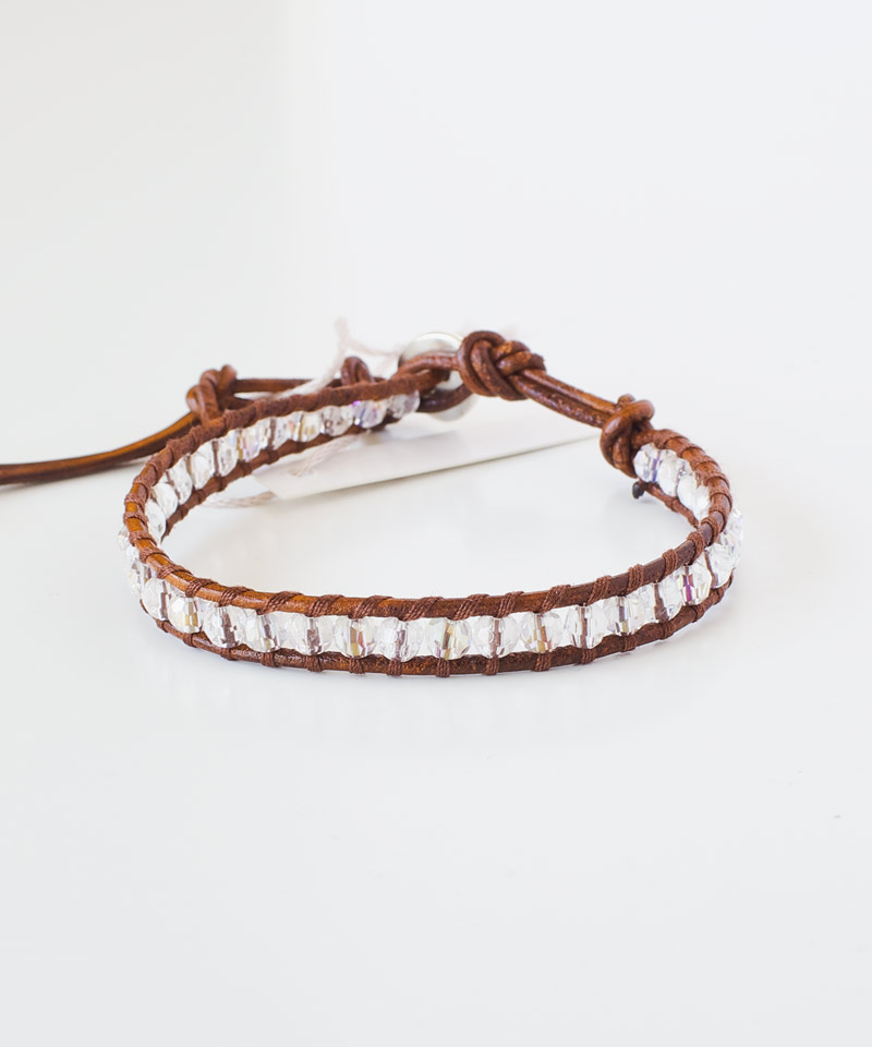 Clear Quartz and Crystal Bracelet