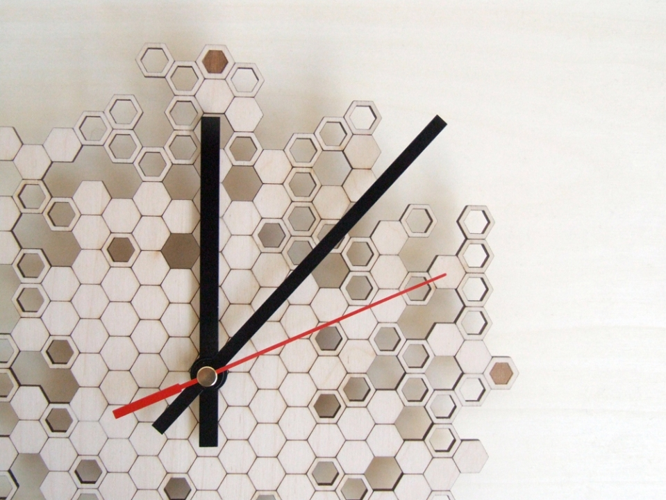 Asymmetree Shop | Parametric and Laser Cut Clocks and Jewelry