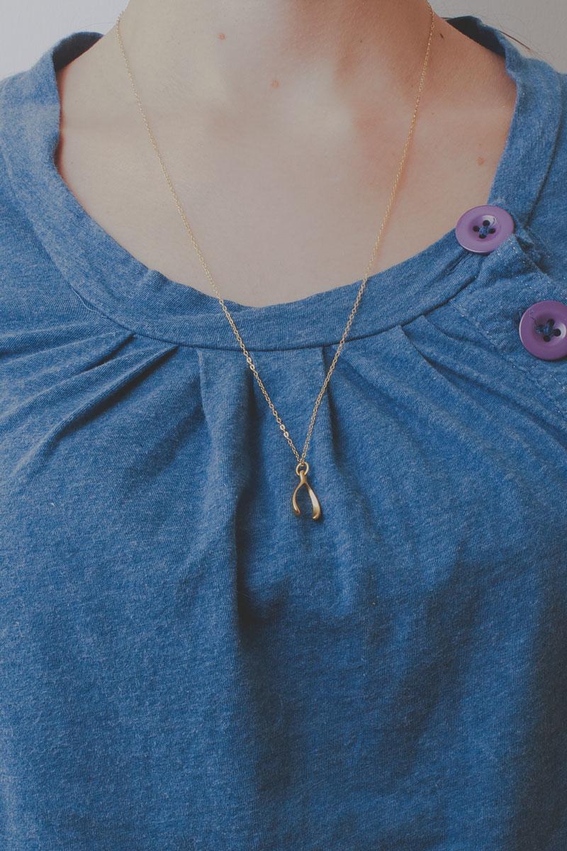 24K Gold Vermeil Wishbone Necklace | Talulah Lee