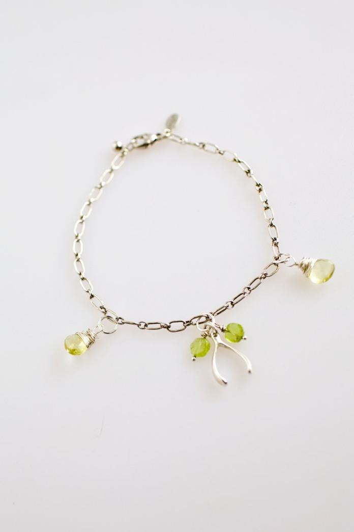 Sterling Silver Wishbone Charm Bracelet | Talulah Lee