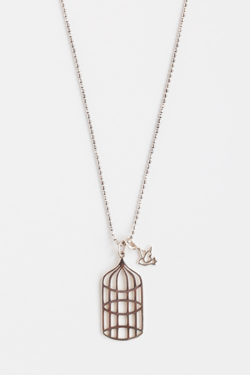 """Sparrow & Cage"" Necklace 